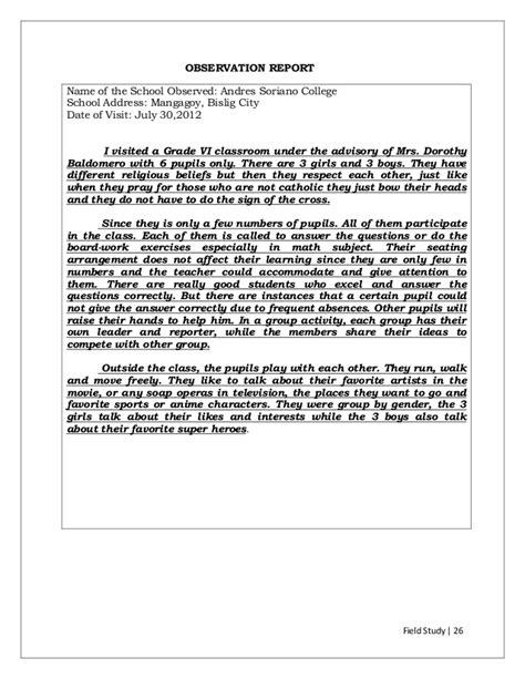 Class Observation Essay by Classroom Observation And Reflection Paper Essay Classroom Observation And Reflection Paper
