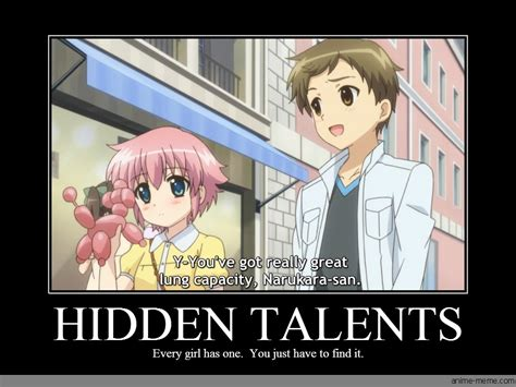 hidden talents anime meme com
