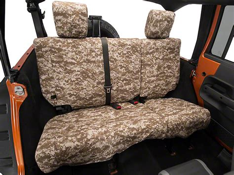 camo split bench seat covers caltrend wrangler desert camouflage rear seat cover