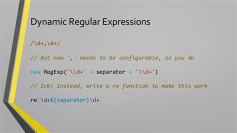 regular expression for currency format in javascript es6 the awesome parts