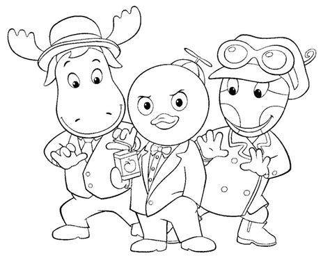 Printable Backyardigans Coloring Pages Coloring Me The Backyardigans Coloring Pages