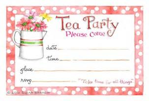 tea invitation susan branch