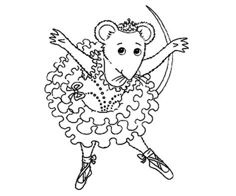 coloring pages angelina ballerina get this online angelina ballerina coloring pages 703915