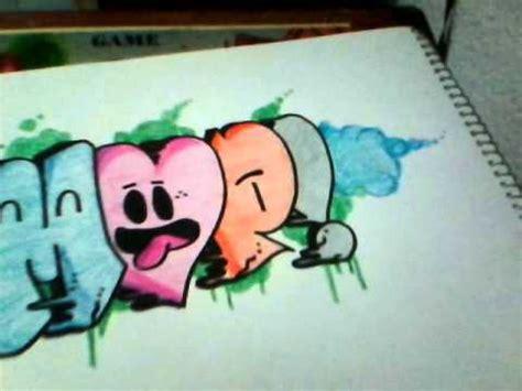 imagenes de love en grafiti como hacer graffiti de amor draw graffitti love youtube