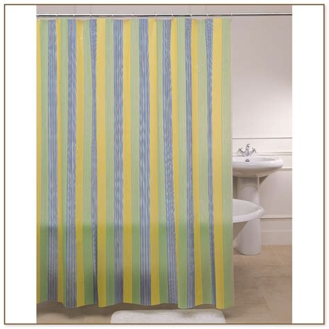 shower curtain striped cotton duck cloth shower curtain blue stripe color block