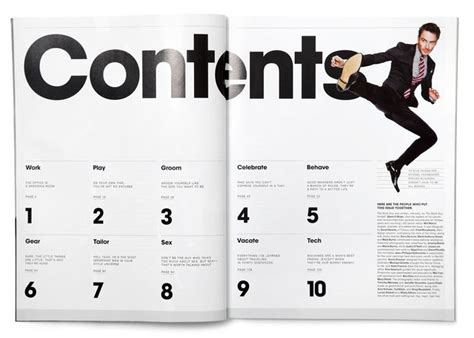 magazine layout font size best 25 magazine contents ideas on pinterest table of