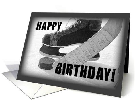 printable birthday cards hockey theme pinterest the world s catalog of ideas