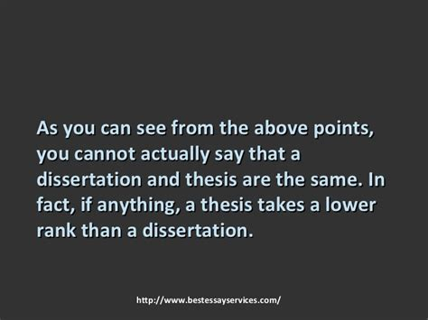 difference between thesis and dissertation differences between dissertation and thesis