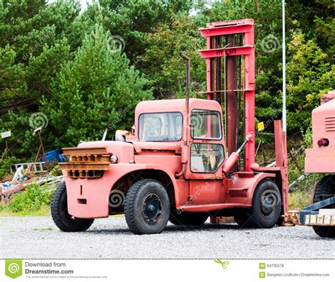 boat lift truck old vintage boat lift truck stock photo image 64735578