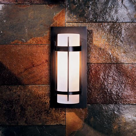 Outdoor Wall Lights Led Hubbardton Forge 305892 Banded Led Outdoor Wall Sconce Lighting Hub 305892