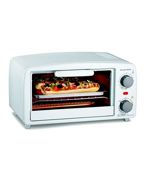 Toaster Broiler Proctor Silex Large 4 Slice Toaster Oven Broiler Black