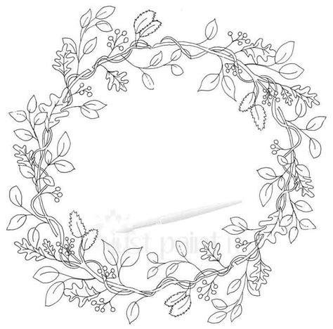 Fall Wreath Coloring Pages Kit Just Paint It Blog Wreath Coloring Pages