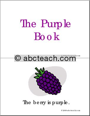 the color purple book preview early reader booklet colors the purple book abcteach