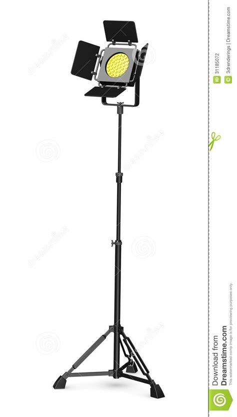 on stage light stands stage light on stand stock illustration image of r