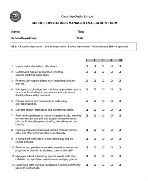 sle school evaluation form 11 free documents in word pdf