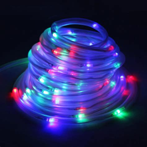 solar powered led rope lights buy solar powered colorful led string light for garden bazaargadgets