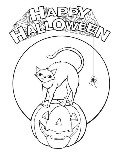 elegant happy halloween coloring pages happy halloween