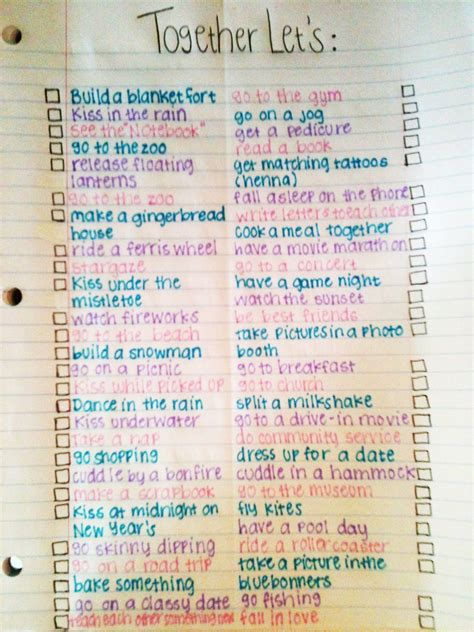 ideas for new relationship relationship list so i don t think we will