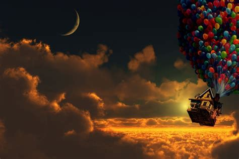 imagenes up up movie house in sky wallpaper best hd wallpapers