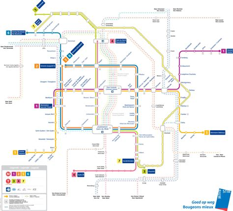 map of brussels stations official map brussels metro tram and rail transit maps