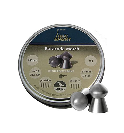Baracuda 22 5 5 Mm baracuda match 5 5 mm de 21 13 grains x 200 unid