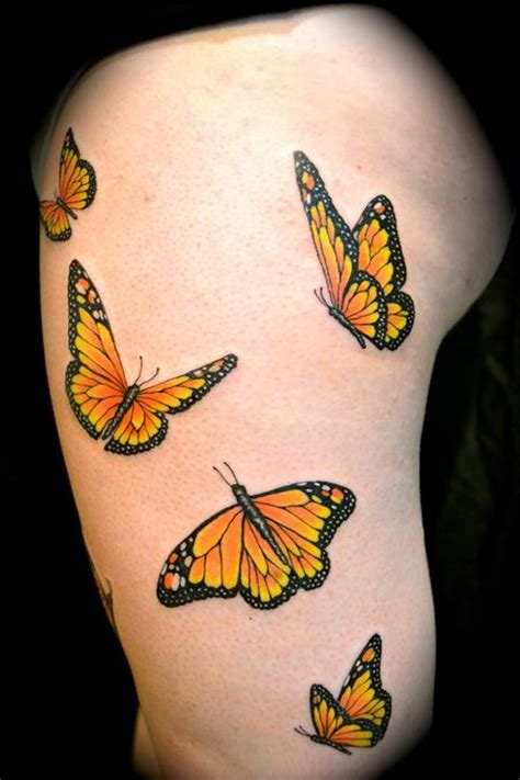 butterfly tattoos on buttocks monarch butterflies my favorite i don t care for the