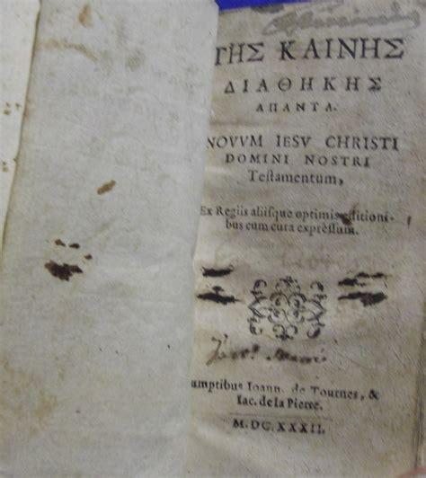 nuovo testamento in greco bibbie 600 la mostra della bibbia