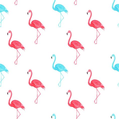 watercolor pattern vector watercolor flamingos pattern vector free download