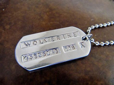 wolverine tags the wolverine tag necklace moonfire charms