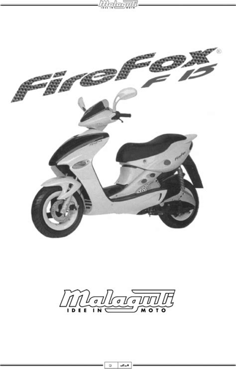 Malaguti F15 Firefox COMPLETE OFFICIAL FACTORY SERVICE