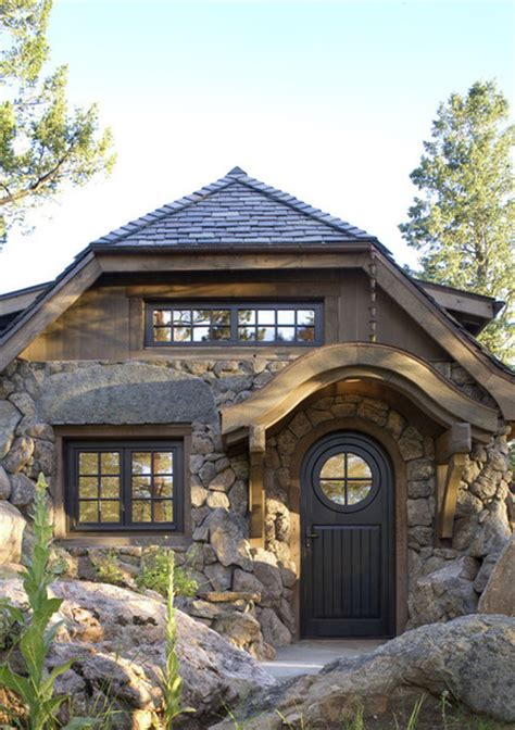 small stone house plans a small stone guest cottage in colorado