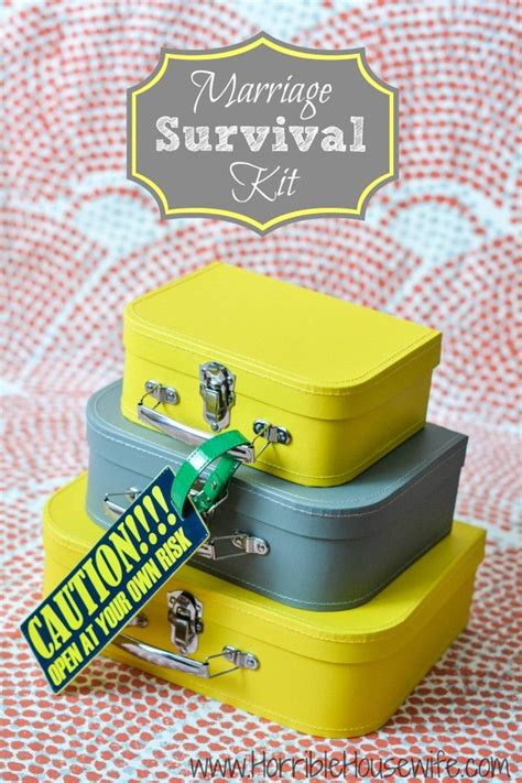 Wedding Gift Kits by Marriage Survival Kit For Couples With A Sense Of Humor