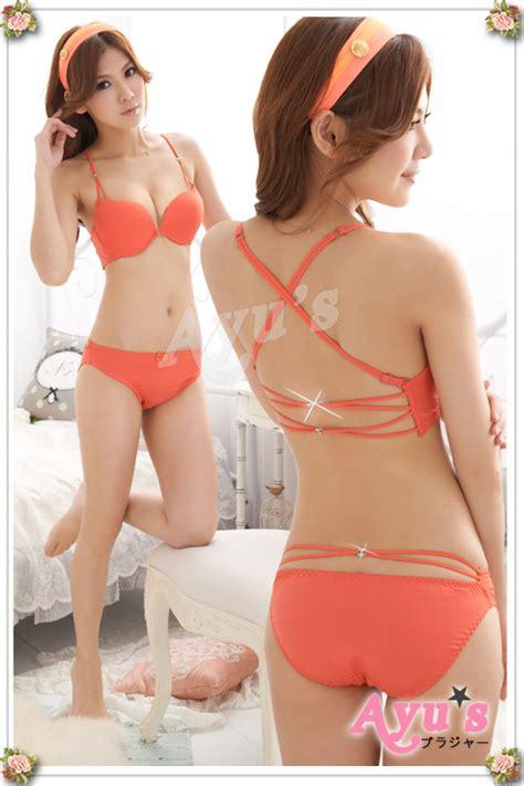 Promo Bra Set Push Up Bra Murah Baju Tidur 4 lg17 bright orange tamochi toko baju wanita murah dan grosir fashion aksesoris korea