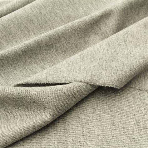 organic knit fabric light organic sweater knit fabric grey marl gots