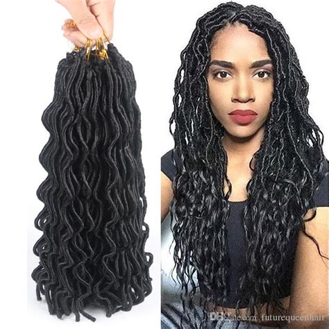 can i use human hair for faux locs 24 curly faux locs 24 roots synthetic hair wavy faux locs