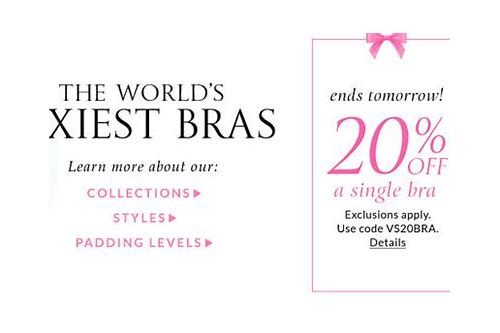 victoria secret coupon 15 off bra