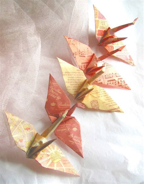 Origami Paper Discount - 5 wedding favors origami peace cranes paper