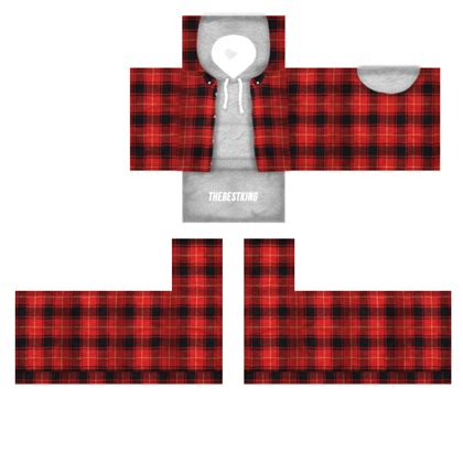 grey hoodie red flannel 1 roblox