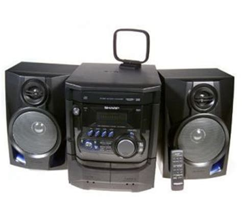 sharp 200 watt shelf stereo system w 3 cd changer dual