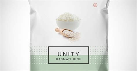 unity layout label unity basmati rice packaging design on behance product