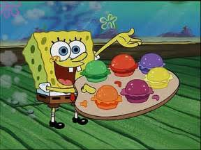 colored krabby patty pretty patties the adventures of gary the snail wiki
