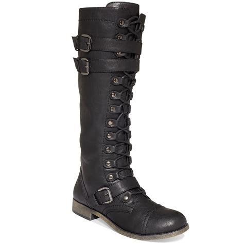 black lace up boots rage jafari lace up boots in black lyst