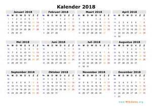 Kalender I 2018 Kalender 2018 Wikidates Org