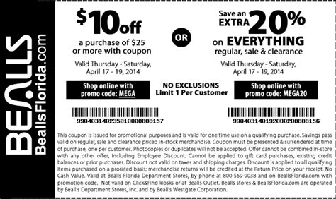 bealls outlet printable coupons 2014 print in store coupon bealls florida