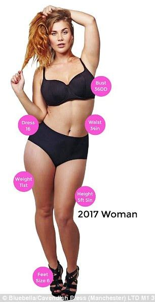 average size woman how much the average woman s body shape has changed