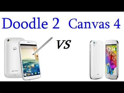 micromax doodle 2 vs galaxy note 3 micromax canvas 4 vs doodle 2 detailed comparison