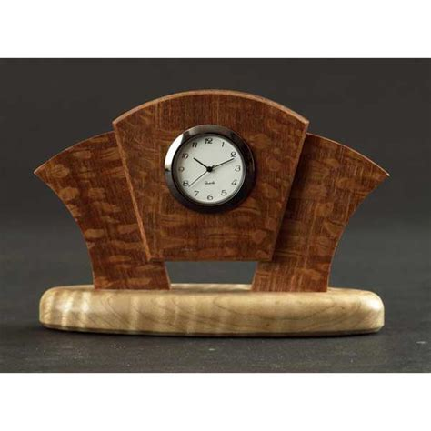 wooden desk clock plans deco desk clock woodworking plan from wood magazine