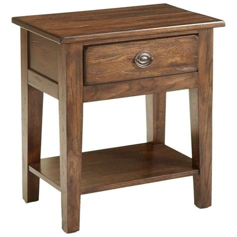 attic heirlooms heritage by broyhill furniture broyhill attic heirlooms nightstand in oak stain