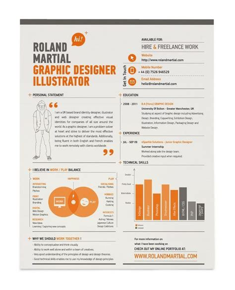 Resume Creator Free Download by Curriculum Design 35 Esempi Grafici Con Cui Presentarvi