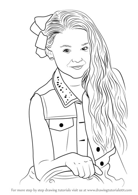 Coloring Pages Jojo Siwa | learn how to draw jojo siwa youtubers step by step